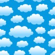 Stock Vector: Cloudy sky pattern