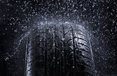 Rain Tire — Stock Photo