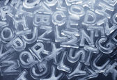 Ice Letters — Stock Photo
