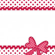 Gift bow and ribbon borders on white — Stock Photo #10368795