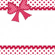 Gift bow and ribbon borders on white — Stock Photo #10368907