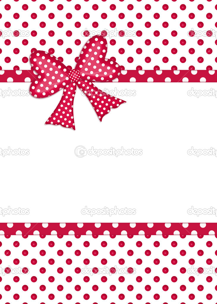 Gift bow and ribbon borders on white — Stock Photo ...