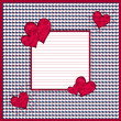 Red and white hearts background with copy space — Stock Photo