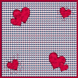Red and white hearts pattern — Stock Photo #8797156
