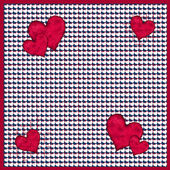 Red and white hearts pattern — Stock Photo