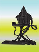 Birdhouse illustration — Stock Vector
