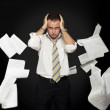 Stressed & frustrated businessman — Stock Photo #8103491