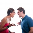 Studio shot of a young couple fighting — Stock Photo #8103859