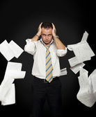 Stressed & frustrated businessman — Stock Photo