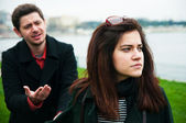 Young couple facing relationship difficulties — Stock Photo