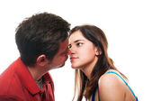 Young couple is about to kiss — Stock Photo