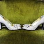White wedding shoes — Stock Photo