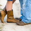 Close up of boots and shoes — Stock Photo
