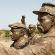 Stock Photo: Statues at Wright Brothers National Monument