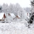 Winter village — Stock Photo