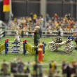 Show jumping in miniature — Photo