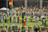 Show jumping in miniature — Stock Photo