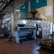 Industry: plant for textile printing - Stock Photo