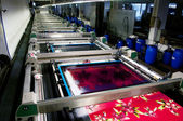 Industry: plant for textile printing — Foto de Stock