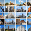 Photo collage of Churches - Stock Photo