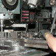 Drilling and milling CNC in workshop — Stock Photo