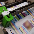 Industrial printshop: Flexo press printing - Stock Photo