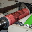 Stock Photo: Industrial printshop: Flexo press printing