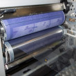Offset press printing for labels — 图库照片