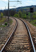 Rail - Train tracks — Stockfoto