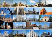 Photo collage of Churches — Stock Photo