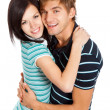 Young happy couple love smiling — Stock Photo #8675911