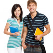 Stock Photo: Young happy students couple