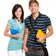Young happy students couple — Stock Photo