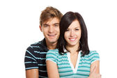 Young happy couple love smiling — Stock Photo