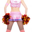 Cheerleader with pompoms — Stock Photo #9410703
