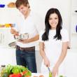Royalty-Free Stock Photo: Young couple in kitchen