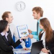 Young business in office — Stock Photo #9907165