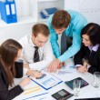 Stock Photo: Young business in office