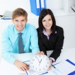 Young business in office — Stock Photo