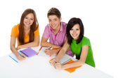 Group of young students — Stock Photo