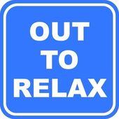 Out to Relax Sign — Stock Photo