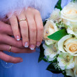 Hands of a newly-married couple — Stock Photo #10007560