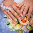 Hands of a newly-married couple — Stock Photo #10046109