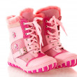 Children's pink boots,  isolated. — Stock Photo
