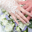 Hands of a newly-married — Stock Photo #10169259