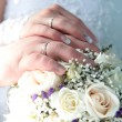 Hands of a newly-married — Stock Photo