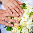 Hands of a newly-married — Stock Photo #10172522