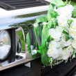 Stock Photo: Car is decorated flowers.