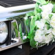 Car is decorated flowers. — Stock Photo