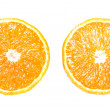 Orange halves , isolated. - Stock Photo